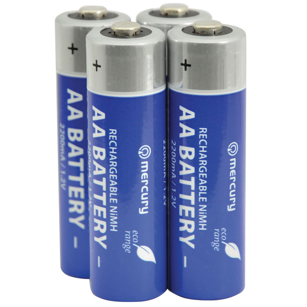 Pack of 4 AA 2200mA NiMH Rechargeable battery
